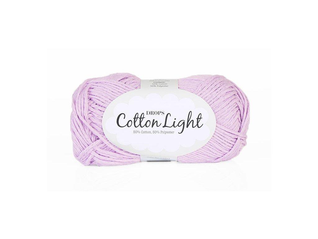 Příze DROPS Cotton light 25 - světlá lila