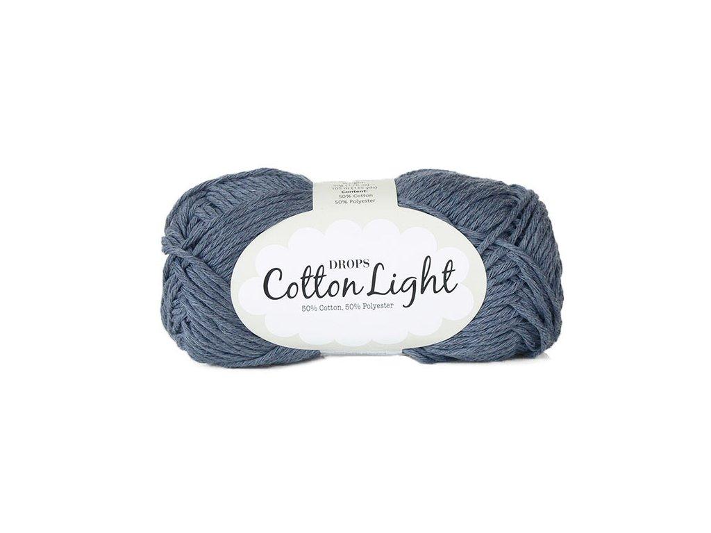 Příze DROPS Cotton light 26 - modrá