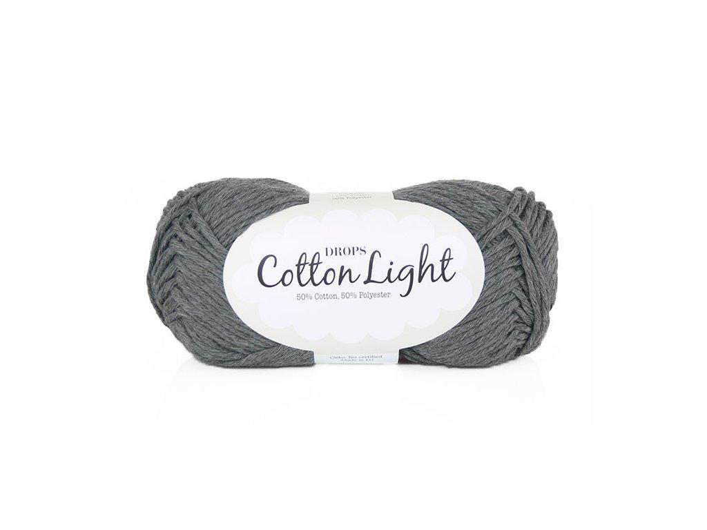 Příze DROPS Cotton light 30 - tmavě šedá