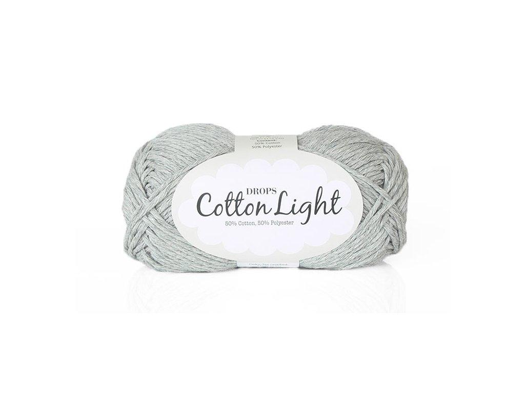 Příze DROPS Cotton light 31 - světle šedá