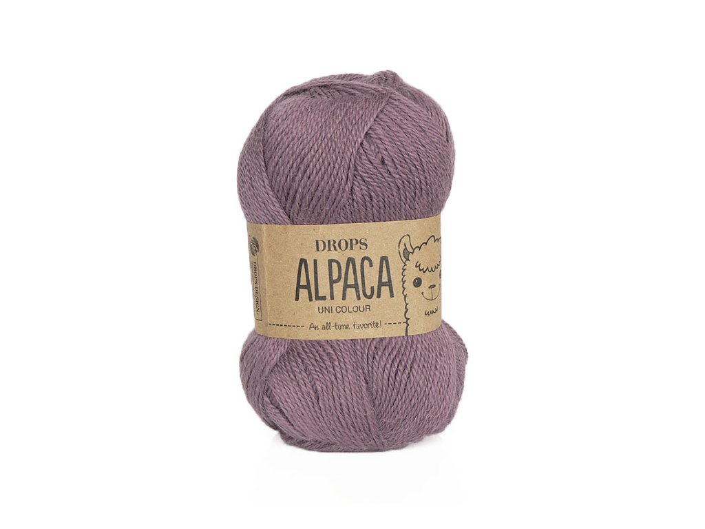 Příze DROPS Alpaca uni colour 3800 - starofialová
