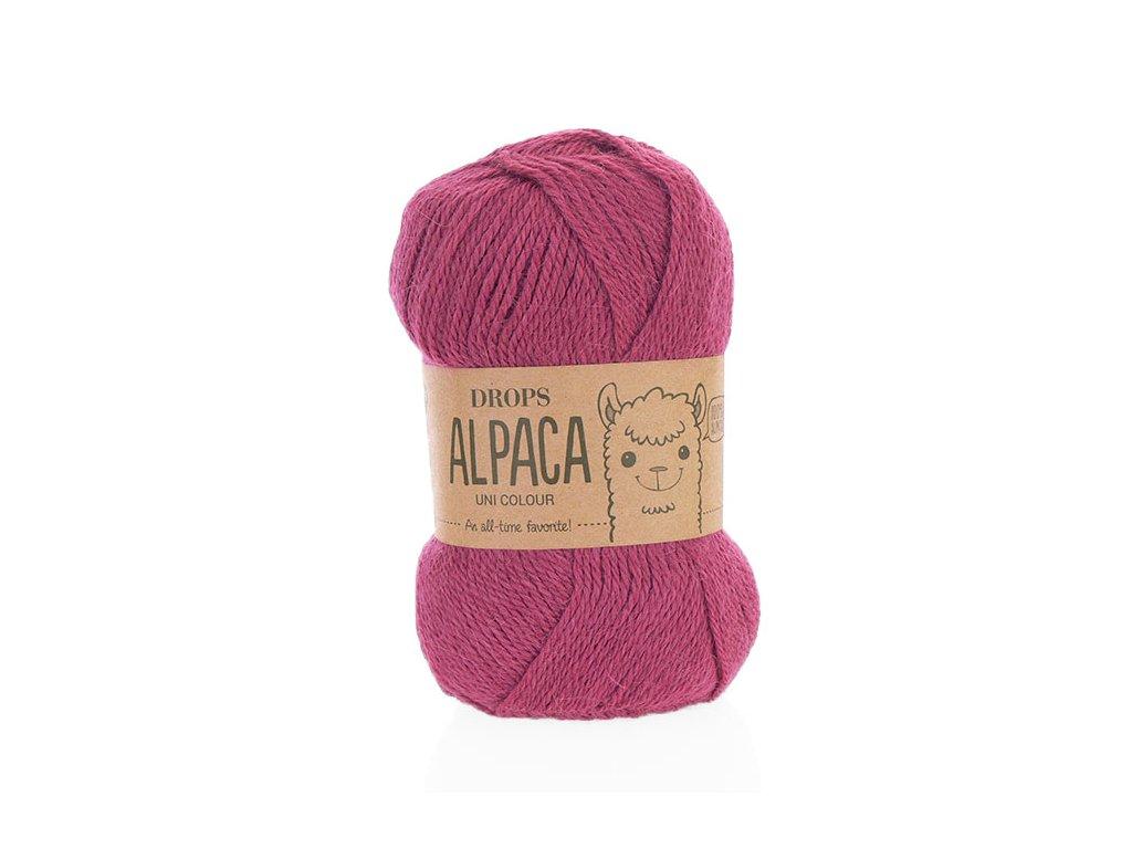 Příze DROPS Alpaca uni colour 3770 - fuchsie
