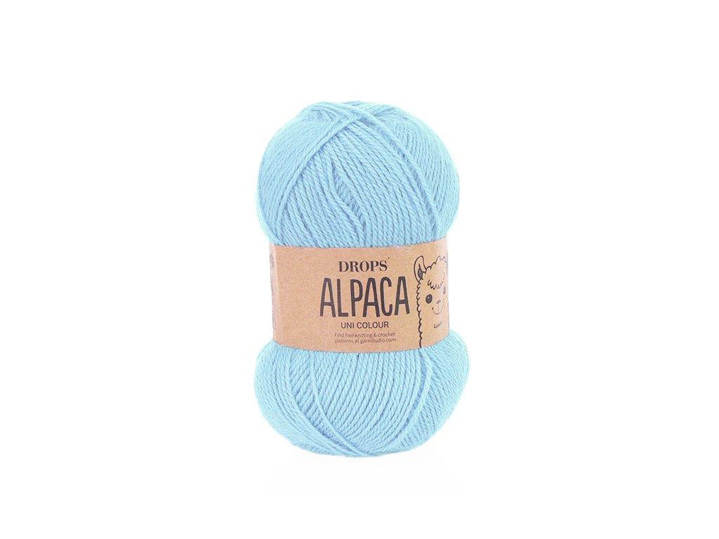 Příze DROPS Alpaca uni colour 6205 - bleděmodrá