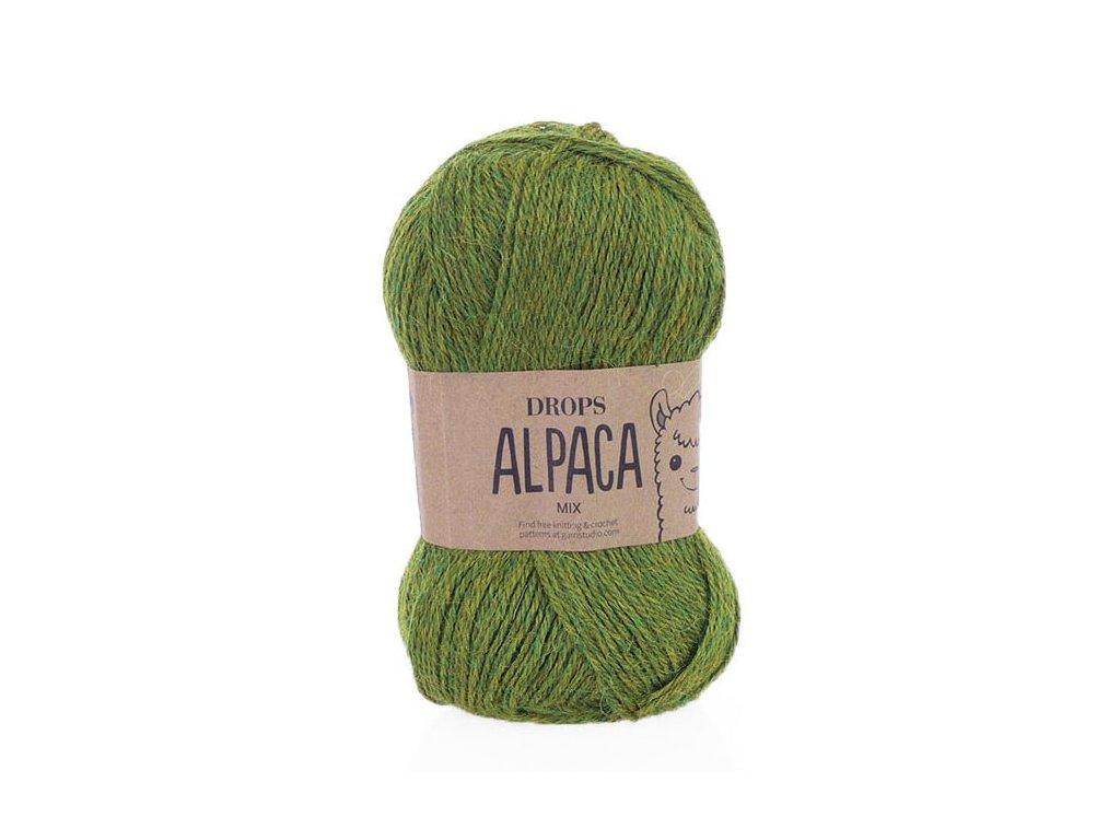 Příze DROPS Alpaca mix 7238 - olivová