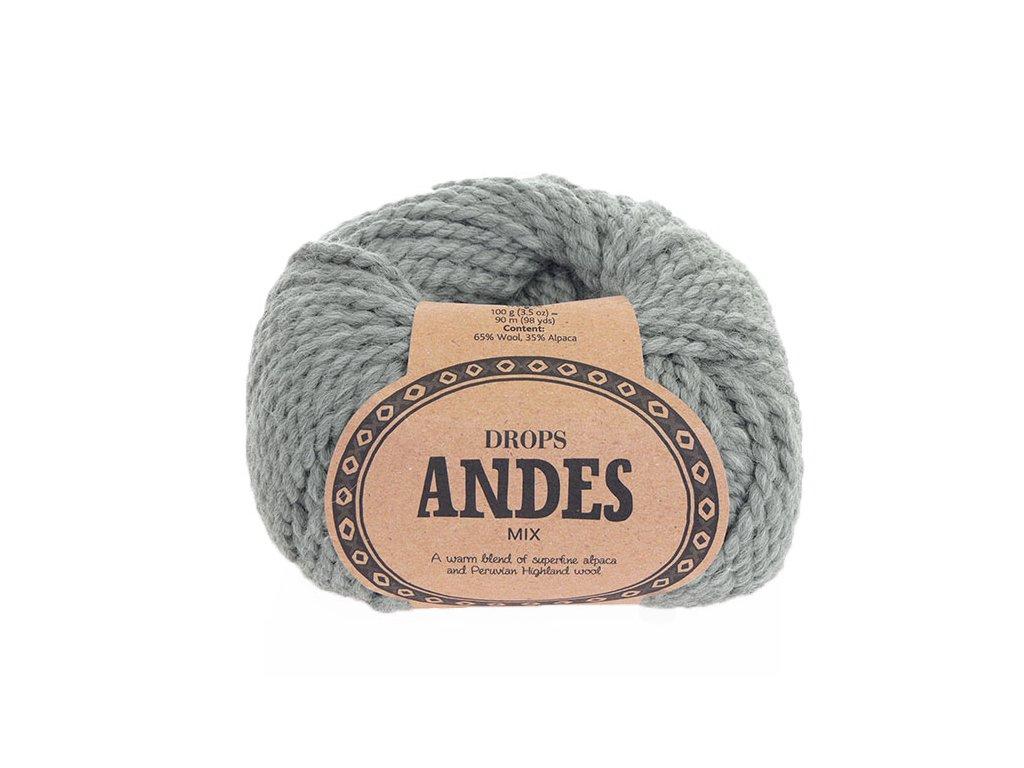 Příze Drops Andes mix 9015 - světle šedá
