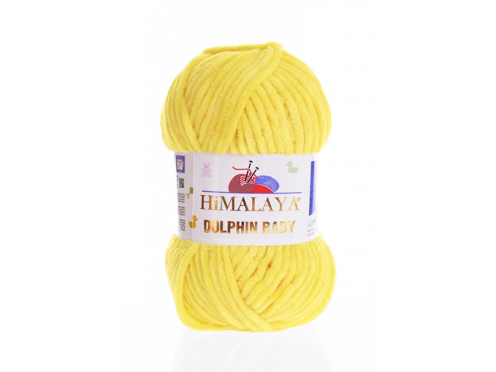 Příze Dolphin Baby 80313 - žlutá