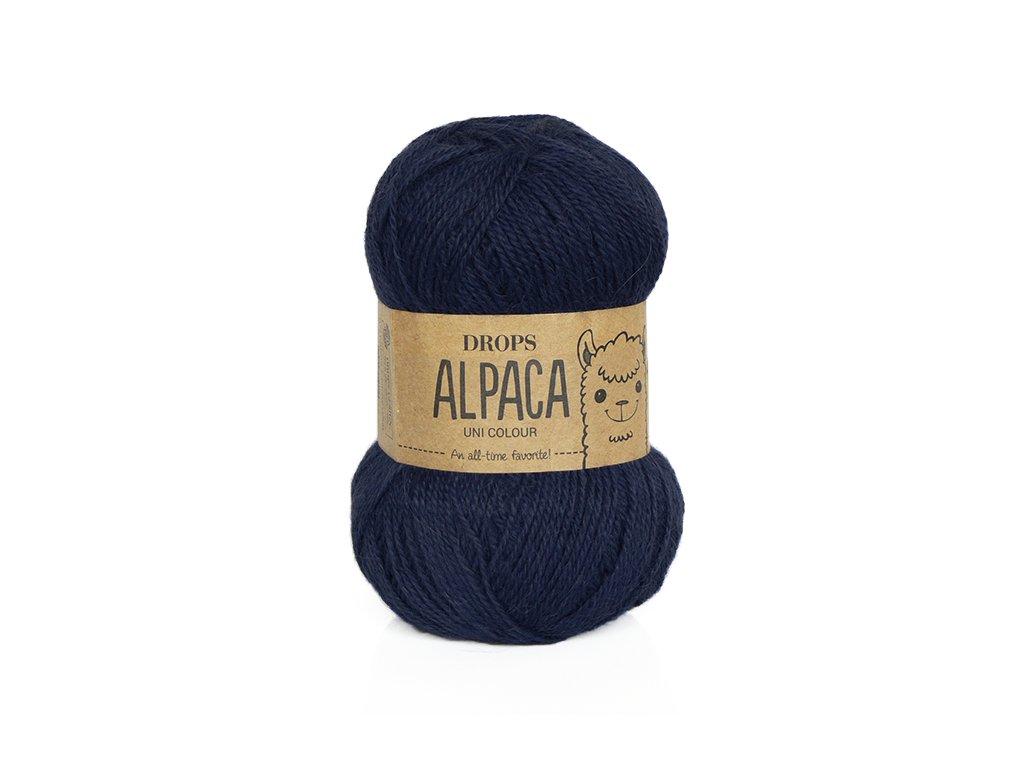 Příze DROPS Alpaca uni colour 5575 - tmavě modrá