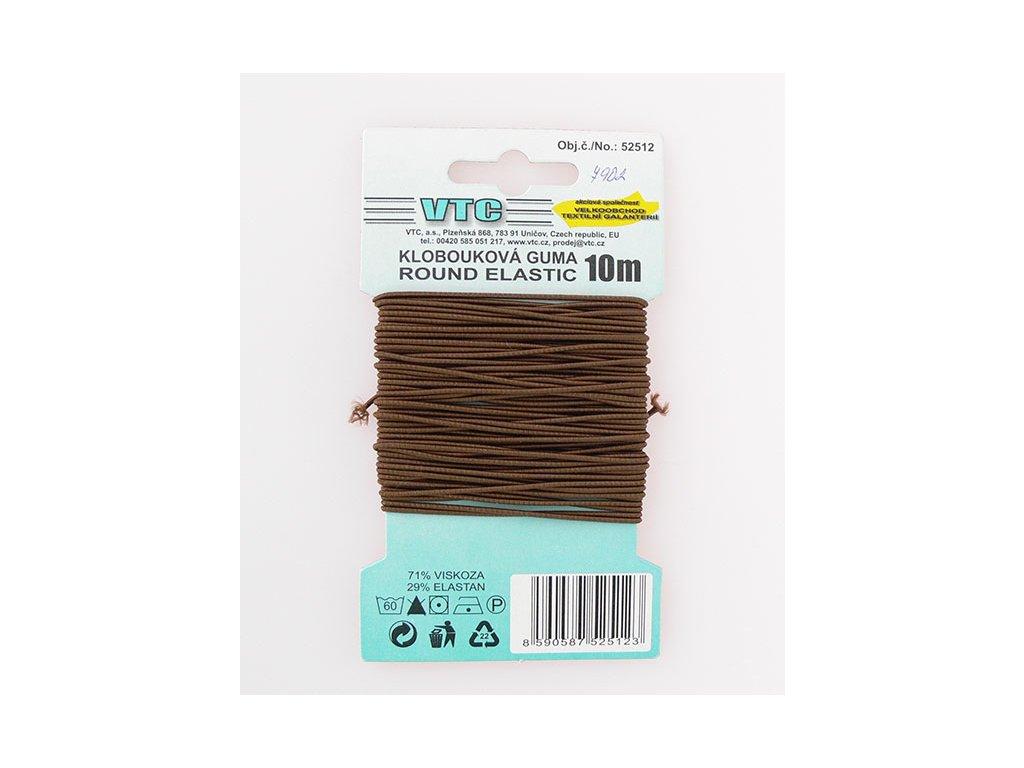 Klobouková guma 1 - 1,2 mm - čokoládová 7902 - 10 m
