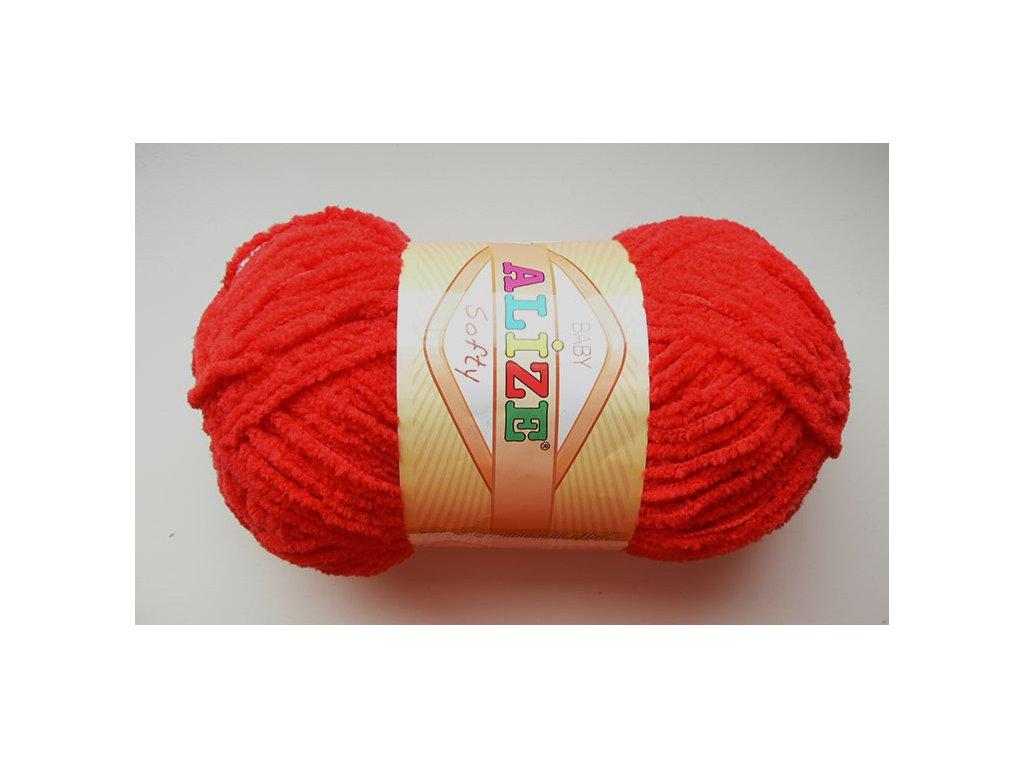 Příze Softy - 56 - červená