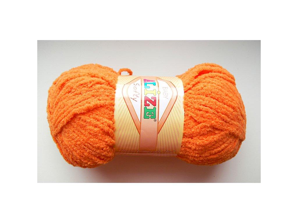 Příze Softy - 336 - oranžová