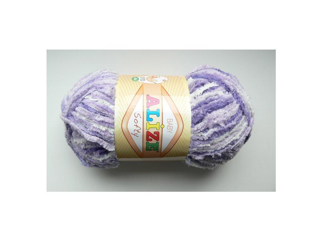Příze Softy - 51627 - fialový melír