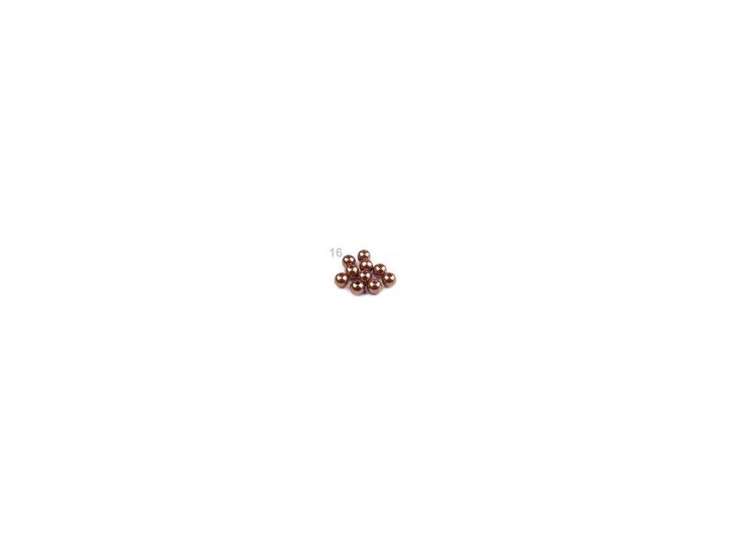 Korálky GLANCE plastové 10mm, 10g, bronzově hnědá