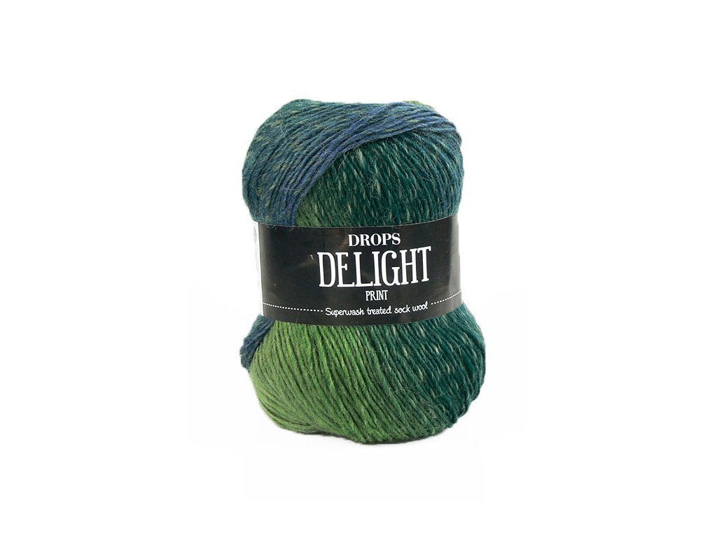 Příze DROPS Delight print 16 - zelená/modrá