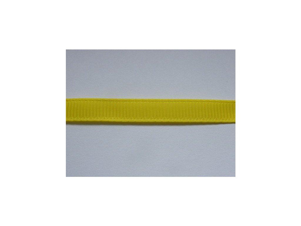 Stuha taftová 6mm , žlutá, 207