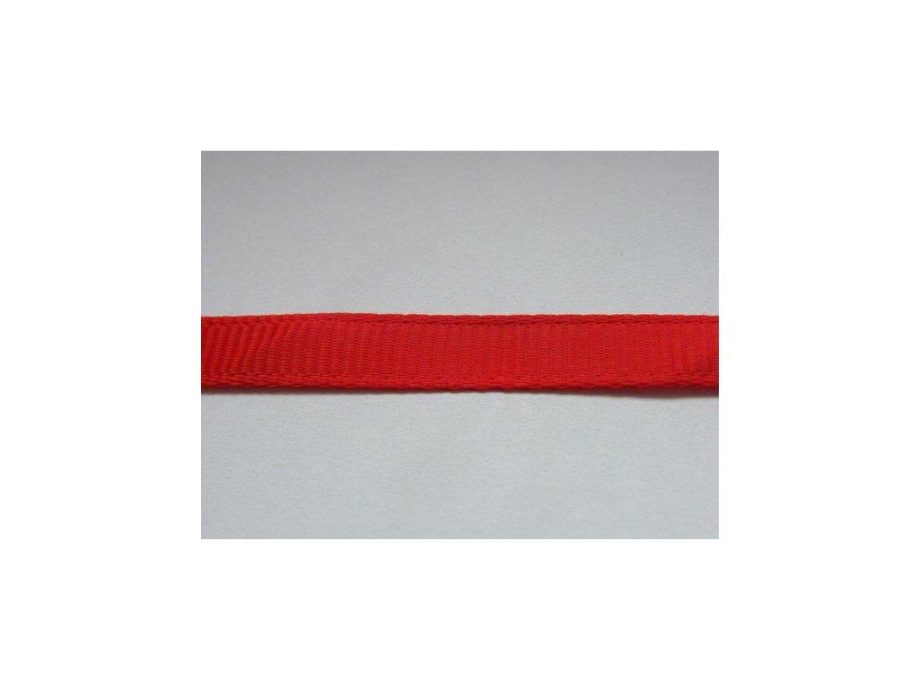 Stuha taftová 6mm , červená - 643