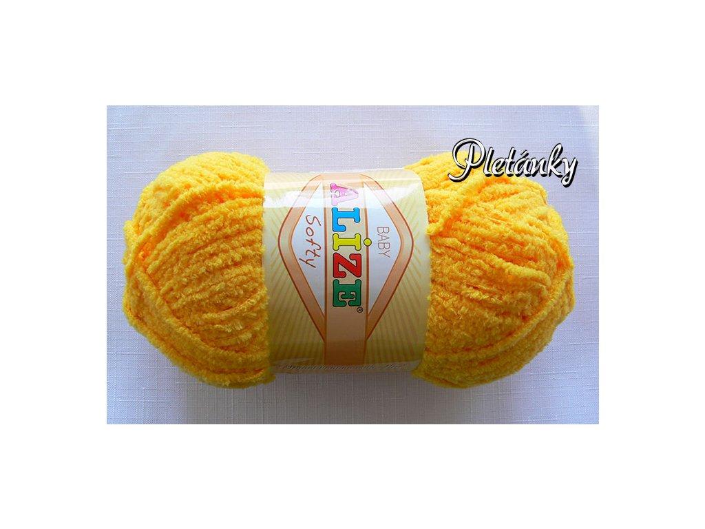 Příze Softy - 216 - žlutá