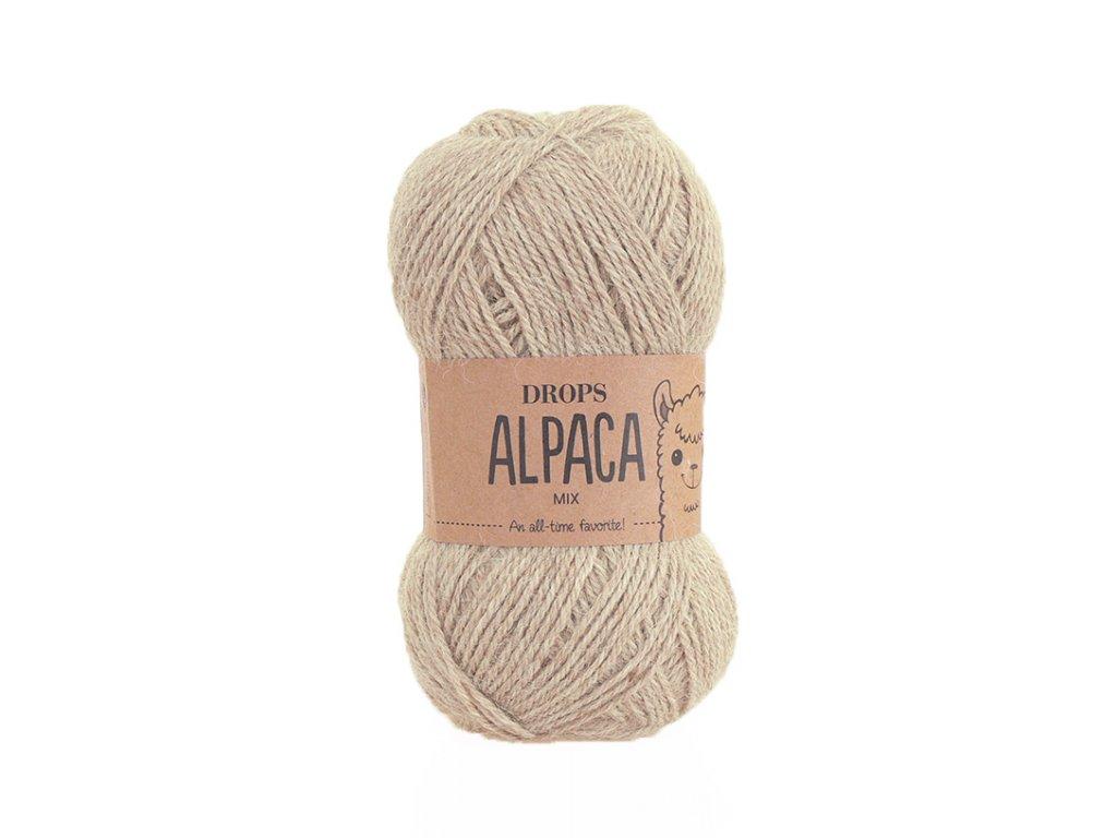 Příze DROPS Alpaca mix 2020 - světlá nugátová