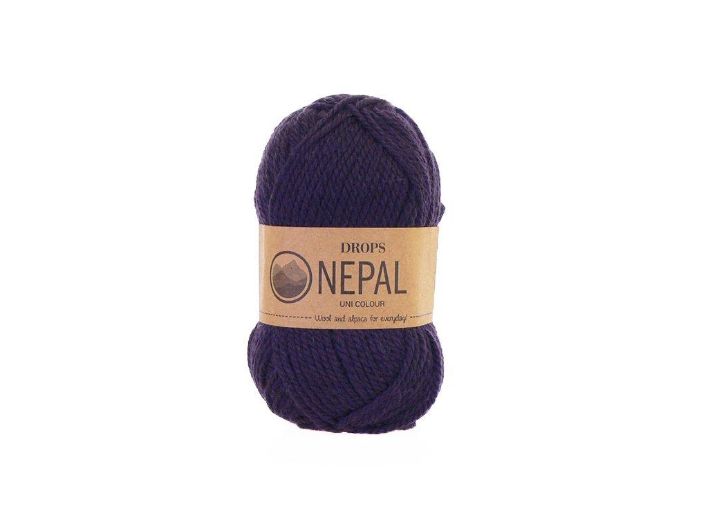 Příze DROPS Nepal uni colour 4399 - tmavá fialová