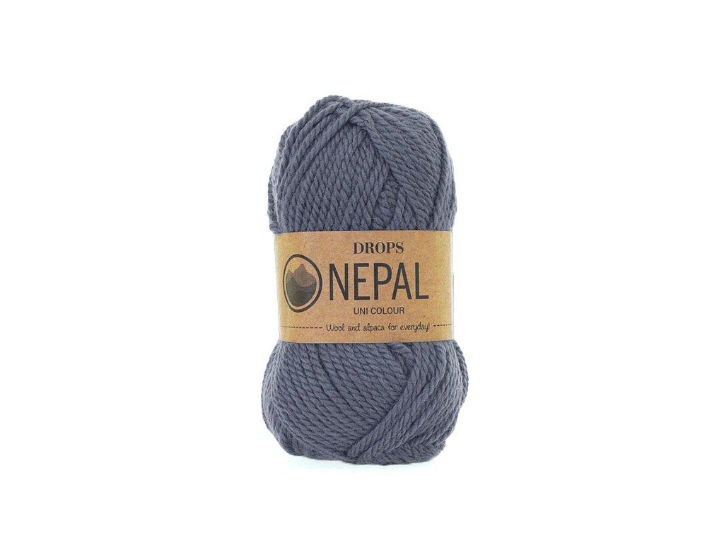 Příze DROPS Nepal uni colour 6314 - džínová modrá