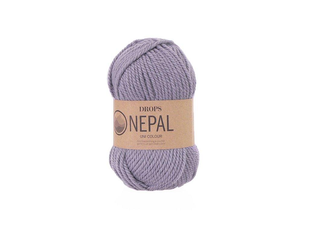 Příze DROPS Nepal uni colour 4311- starofialová