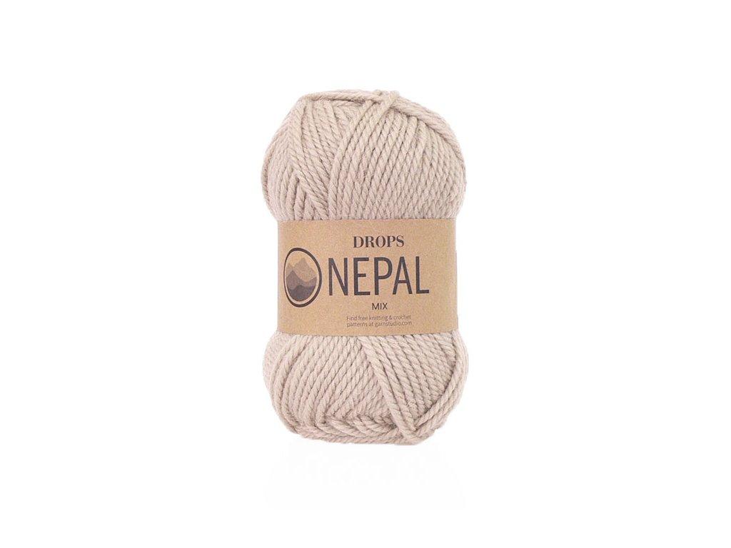 Příze DROPS Nepal mix 0206 - světlá béžová