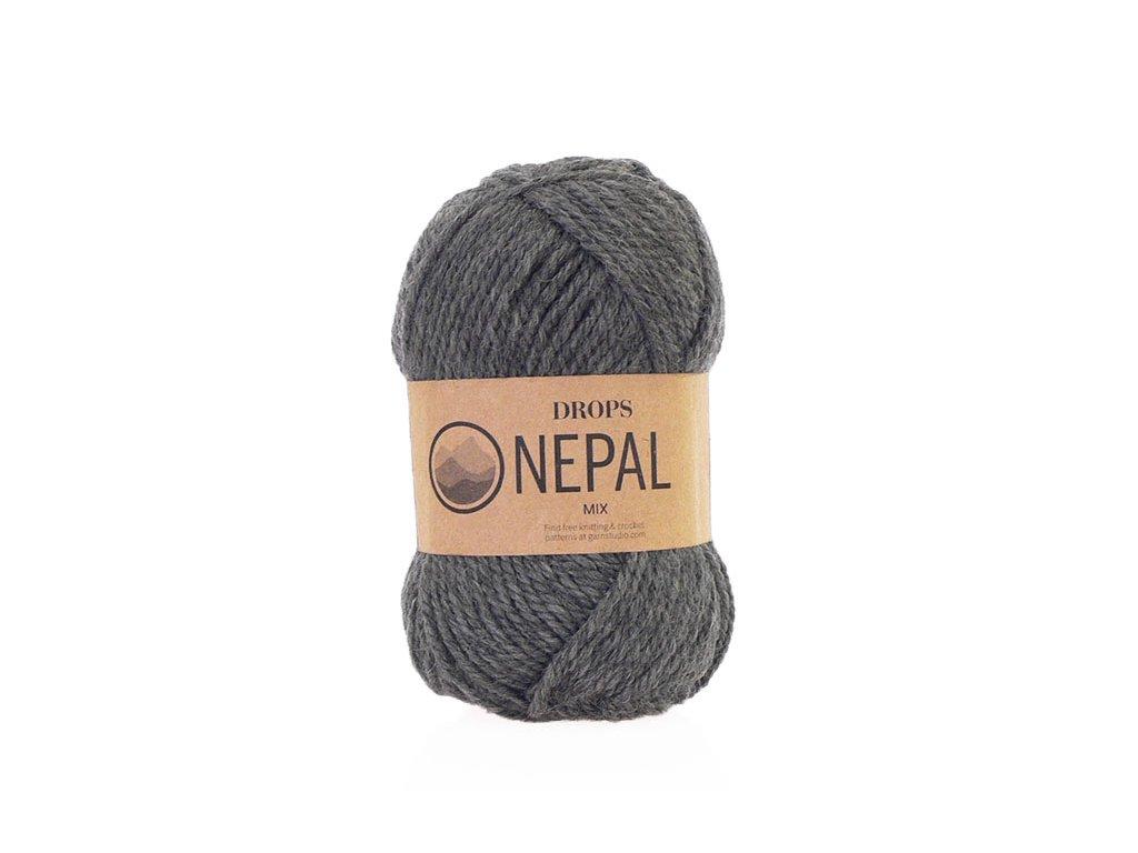 Příze DROPS Nepal mix 0517 - tmavá šedá