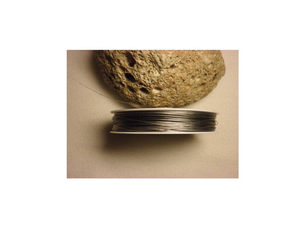 Nylonové lanko 0,45mm , platinová, 70-80 m