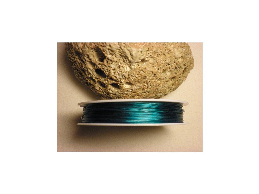 Nylonové lanko 0,45mm (metráž), tyrkysová