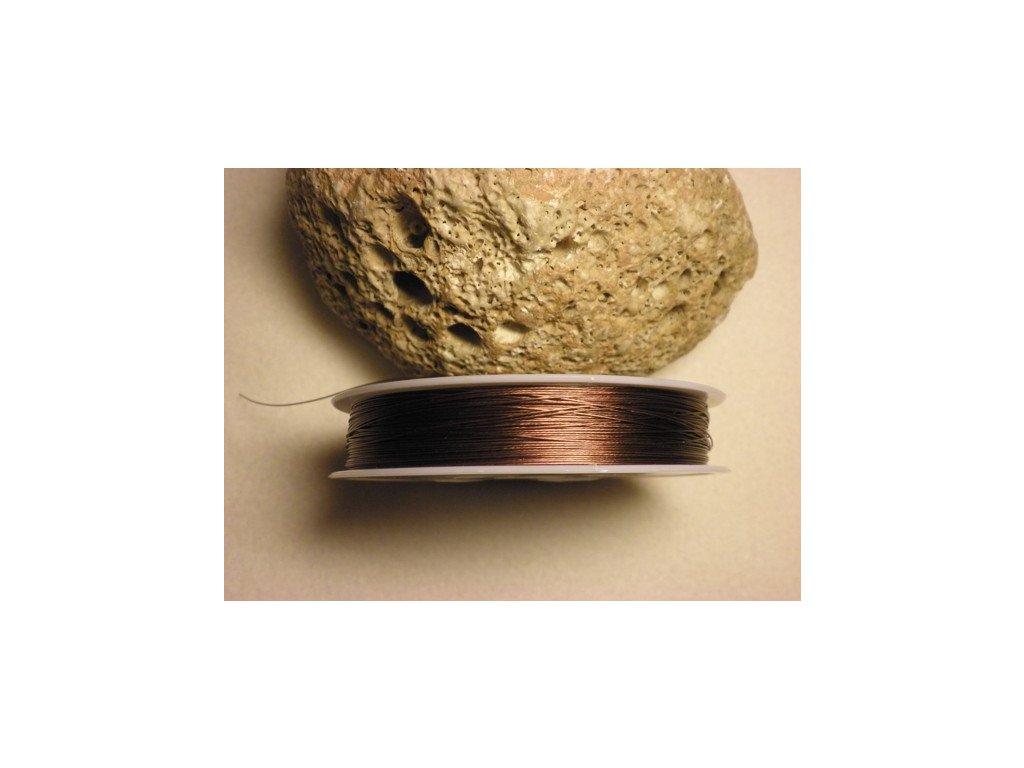 Nylonové lanko 0,45mm (metráž), hnědá