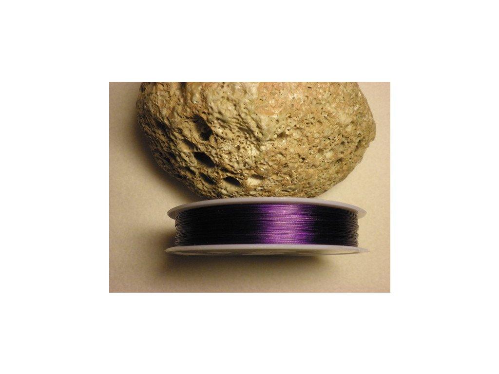 Nylonové lanko 0,45mm (metráž), fialová