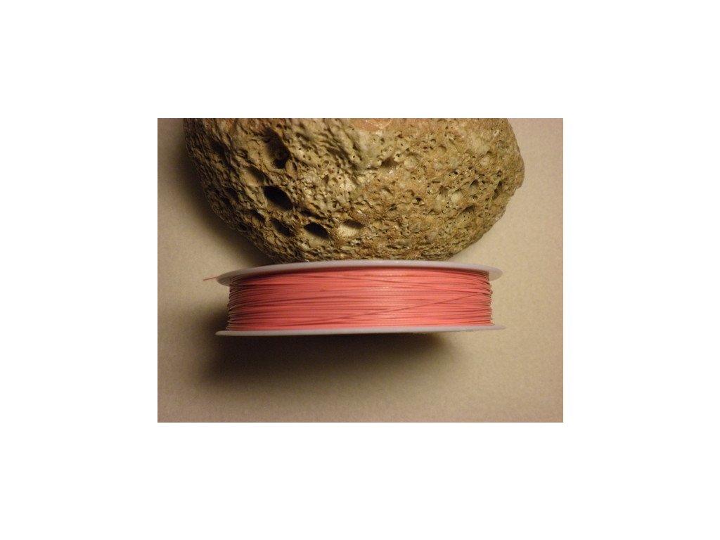 Nylonové lanko 0,45mm (metráž), růžová