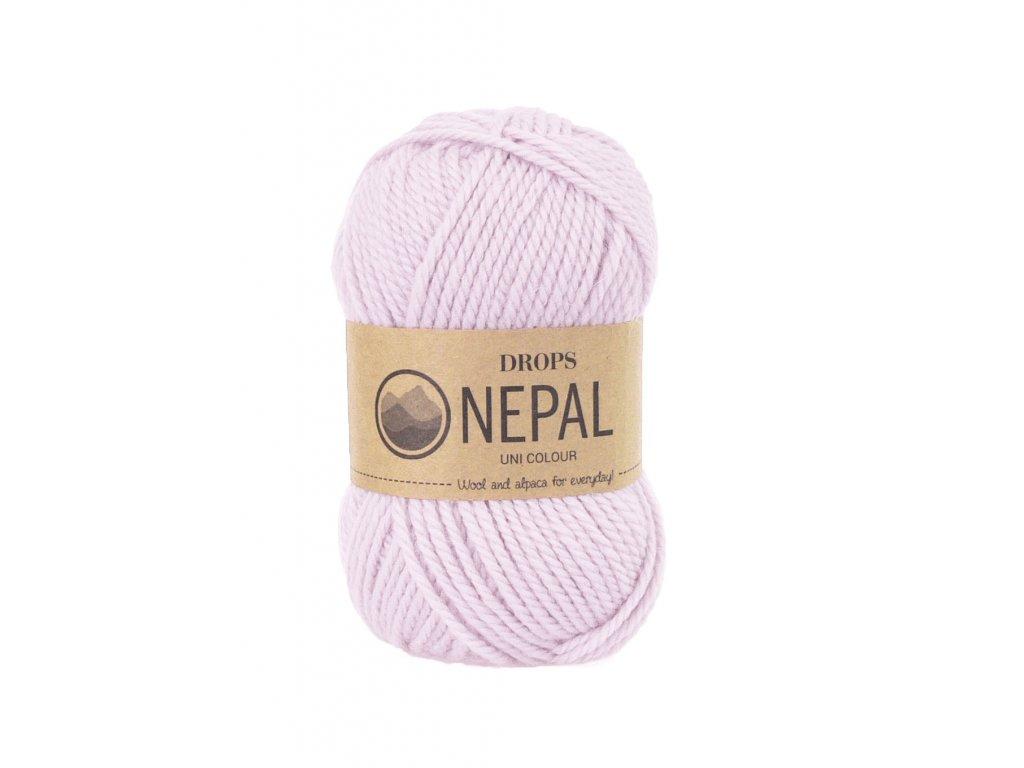Příze DROPS Nepal uni colour 3112 - světlá růžová