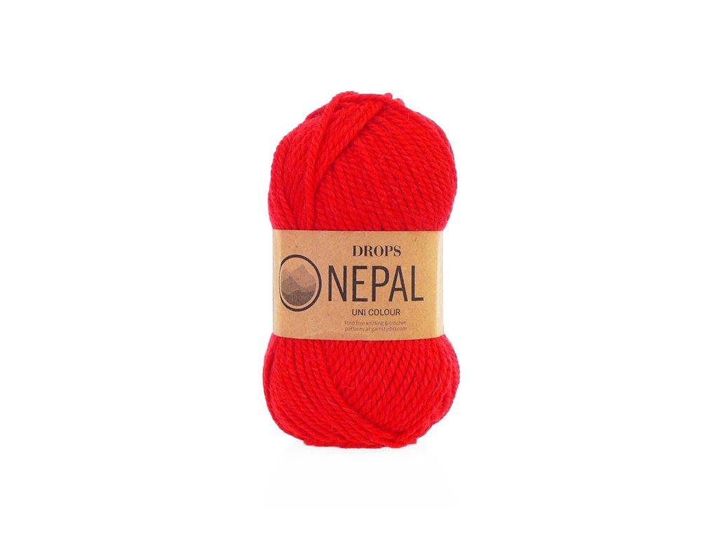 Příze DROPS Nepal uni colour 3620 - červená