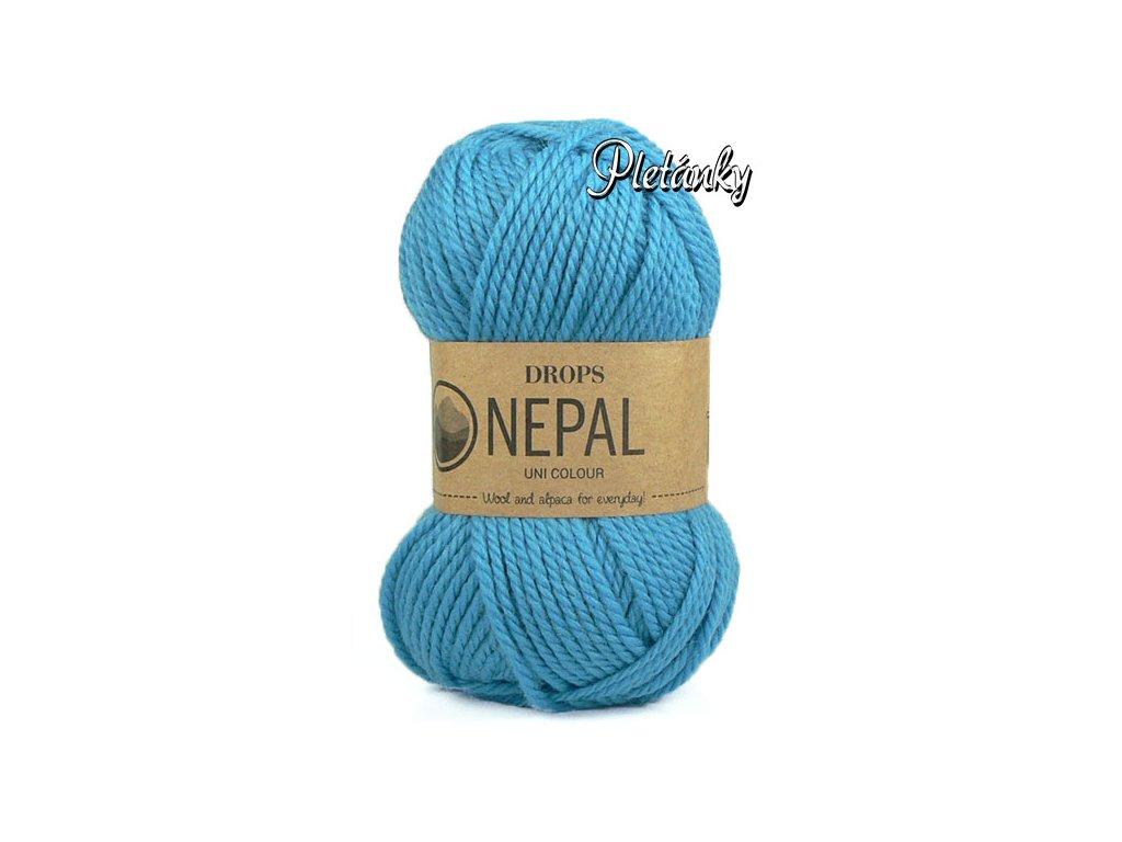 Příze DROPS Nepal uni colour  8783 - pomněnka
