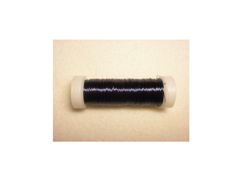 Barevný drátek 0,3mm (metráž), tmavě modrá