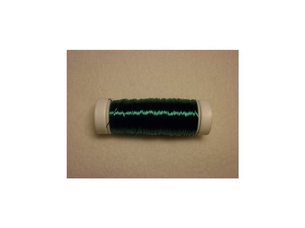Barevný drátek 0,3mm (metráž), tmavě zelená