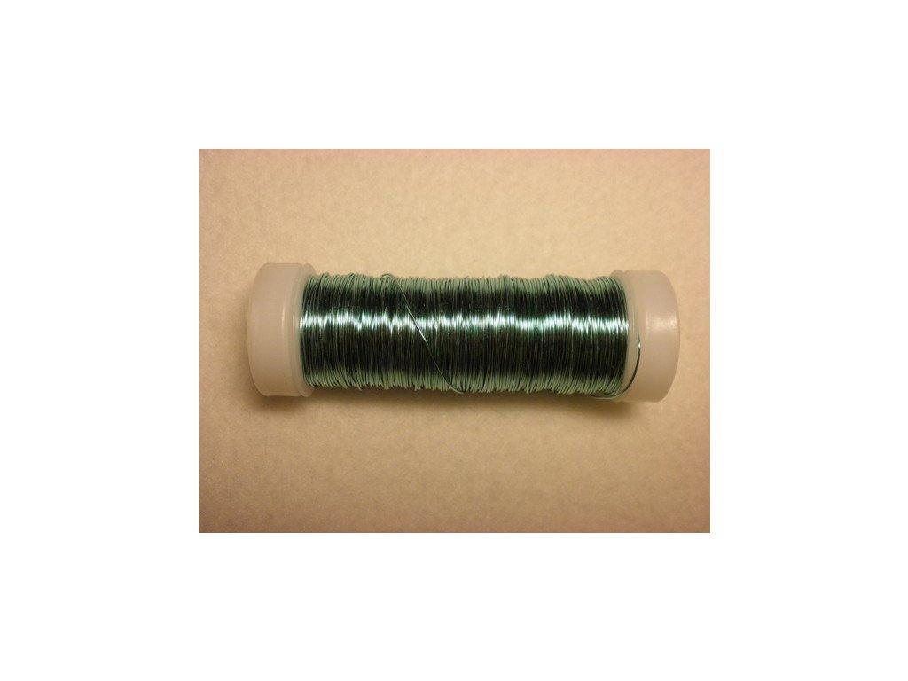 Barevný drátek 0,3mm (metráž), mátová