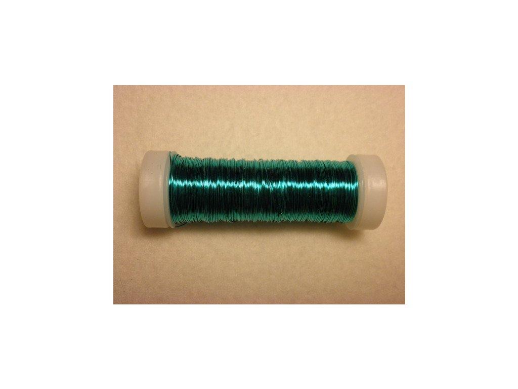 Barevný drátek 0,3mm (metráž), tyrkysová
