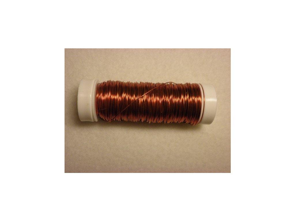 Barevný drátek 0,3mm (metráž), oranžová