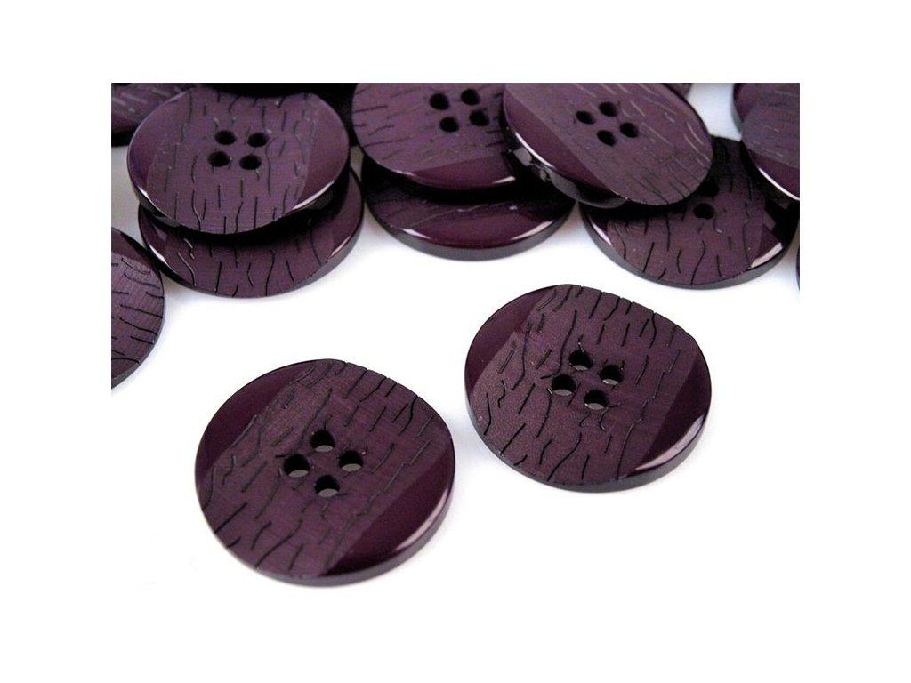"""Knoflík plastový 40"""" (25,4 mm) 110818 - fialová lilková 6"""