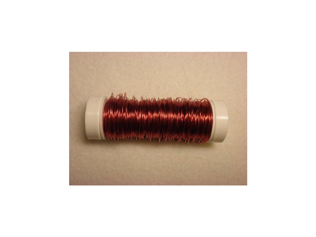 Barevný drátek 0,3mm (metráž), červená