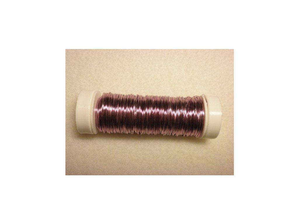 Barevný drátek 0,3mm (metráž), světle fialová