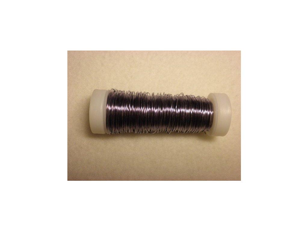 Barevný drátek 0,3mm (metráž), modro-fialová