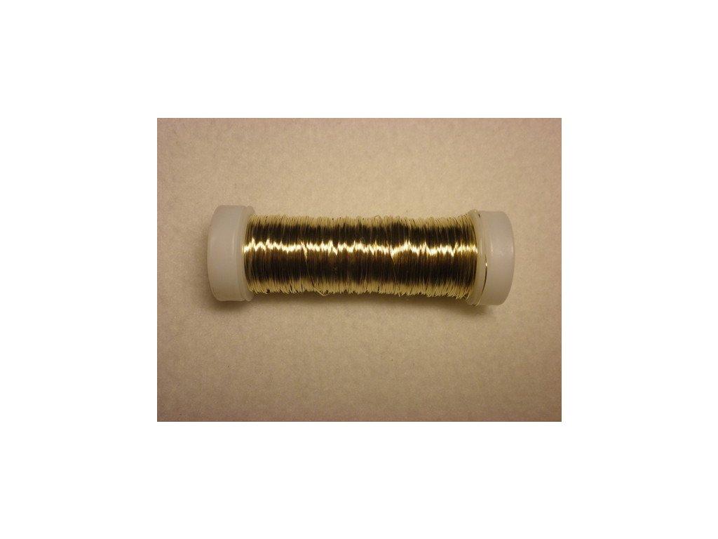 Barevný drátek 0,3mm (metráž), zlatá