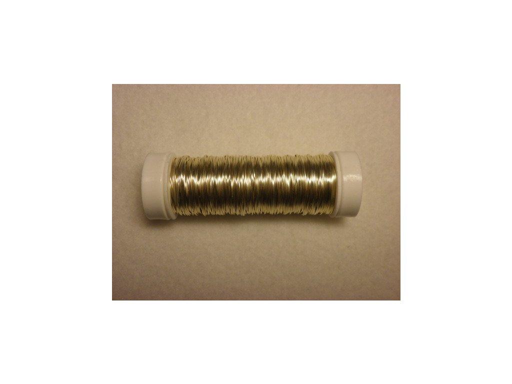 Barevný drátek 0,3mm (metráž), šampaň