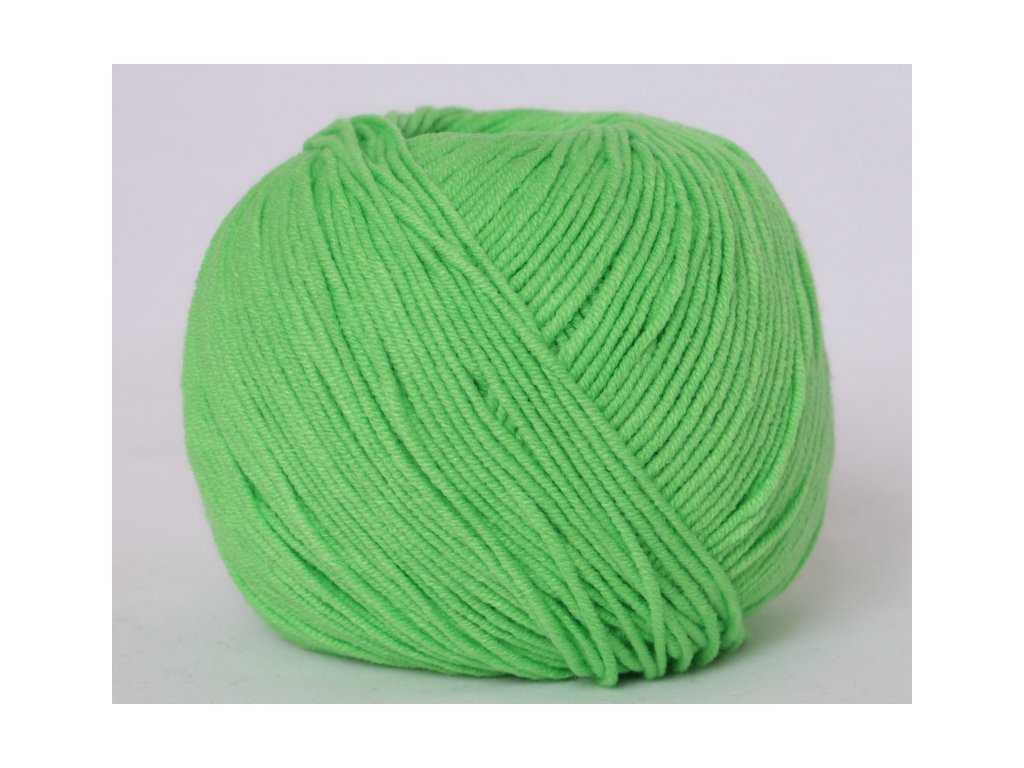 Příze Jeans 8155 jasná zelená