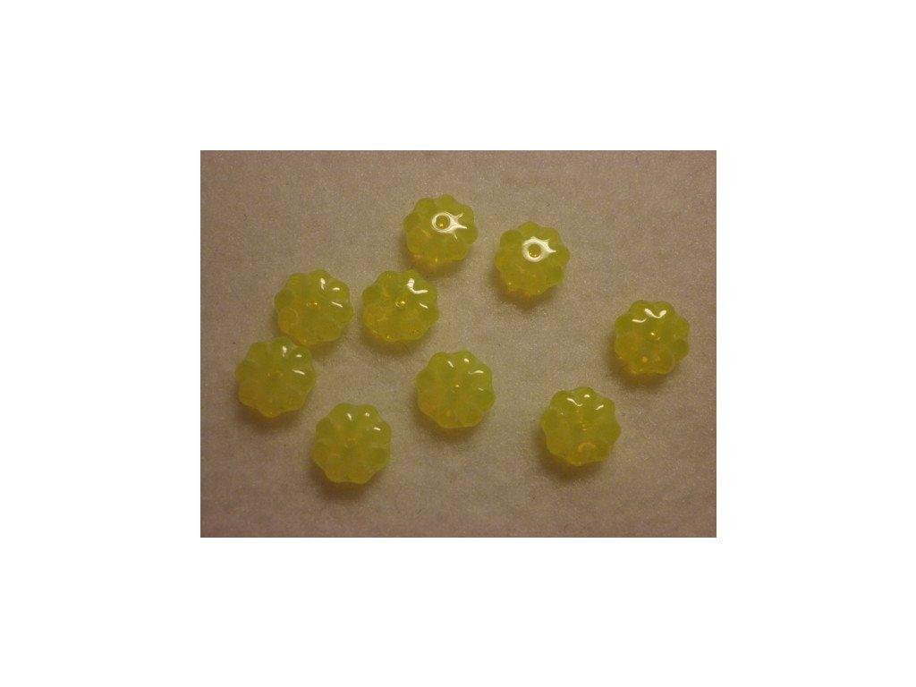 Plochá kytička 9mm, žlutá