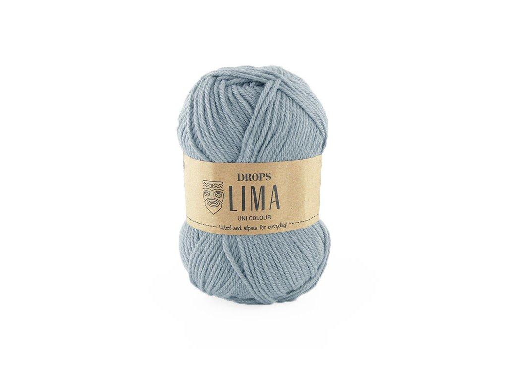 Příze DROPS Lima uni colour - 8112 ledová modrá