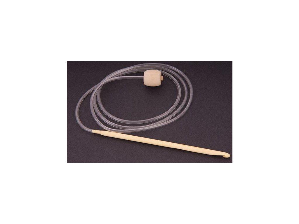 Háček bambusový tuniský 8, 115 cm,  s bužírkou