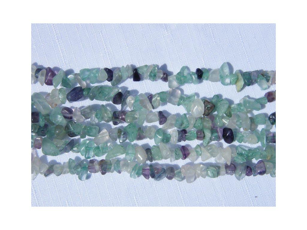 Fluorit, zlomky, 10cm návleku, cca 7-8g